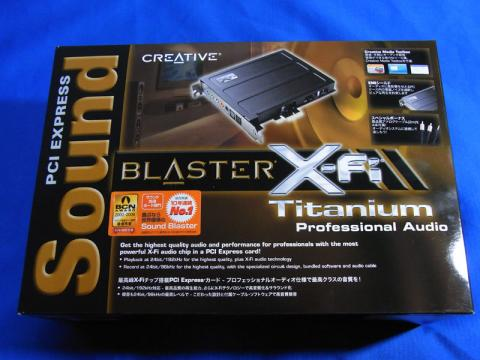 PCI Express Sound Blaster X-Fi Ttanium Professional Audio